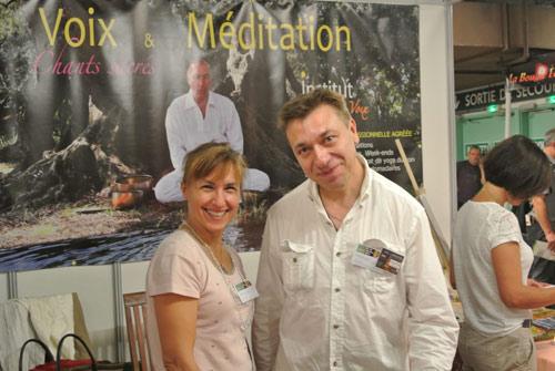 Salon Zen 2014 - Joëlle et Manuel, Professeurs de Yoga du Son, anciens élèves de l'école
