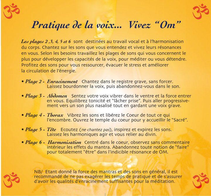 CD Universel OM de Patrick Torre pour la méditation