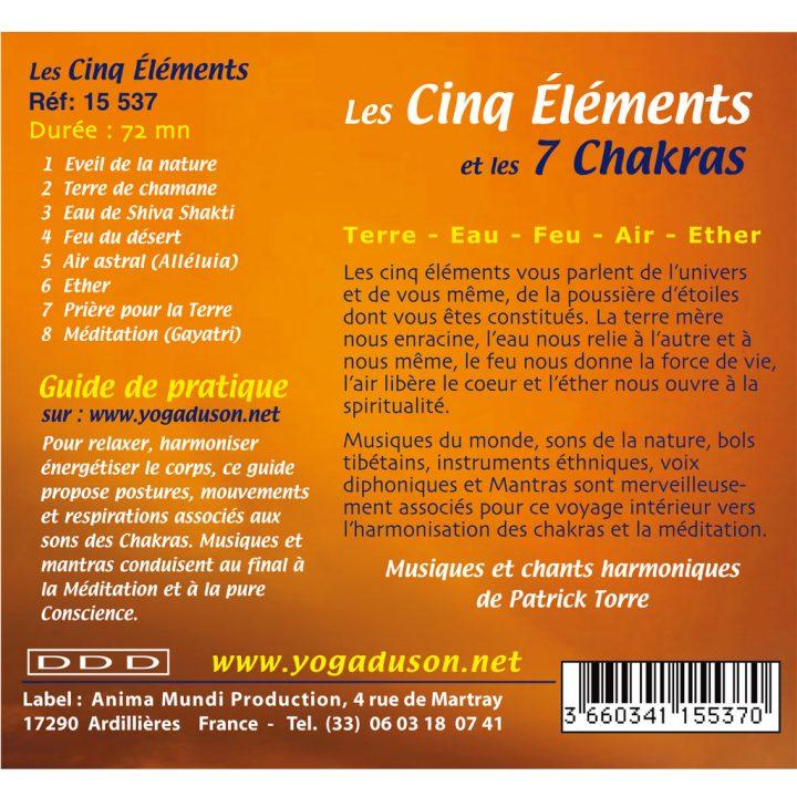 CD les Cinq Eléments de Patrick Torre pour la chakra-thérapie