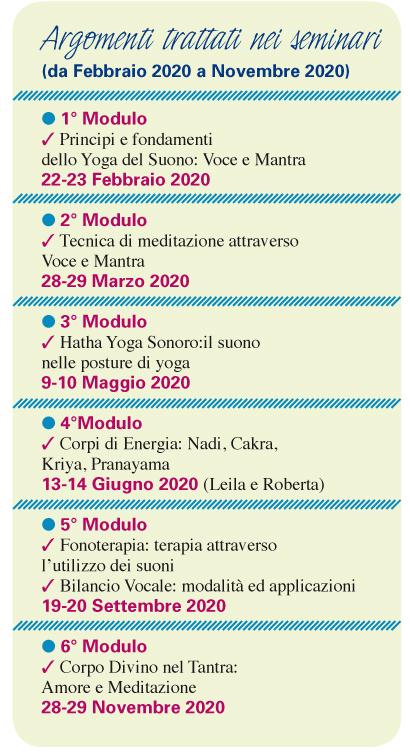 Calendario Persiano 2020.Yoga Du Son Milan Ecole De Patrick Torre